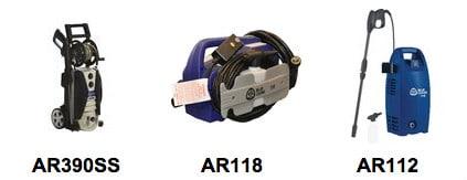 AR Blue Clean Pressure Washer Comparison