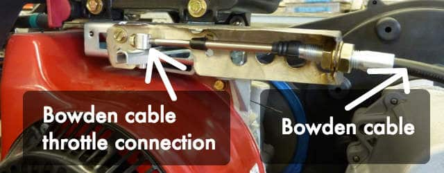 Bowden cable throttle connection honda mower