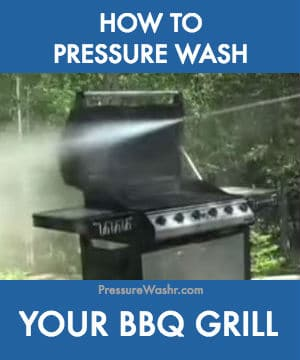 How to pressure wash bbq grill
