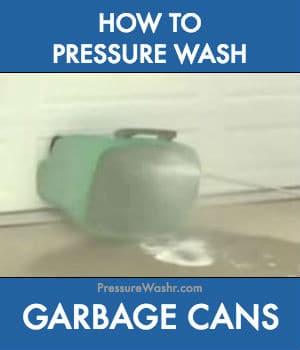 How to pressure wash wheelie garbage cans