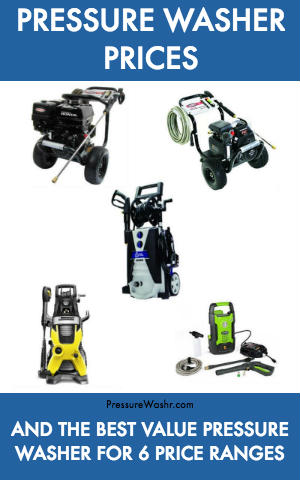 Pressure Washer Prices and Best Pressure Washer Under Price Ranges