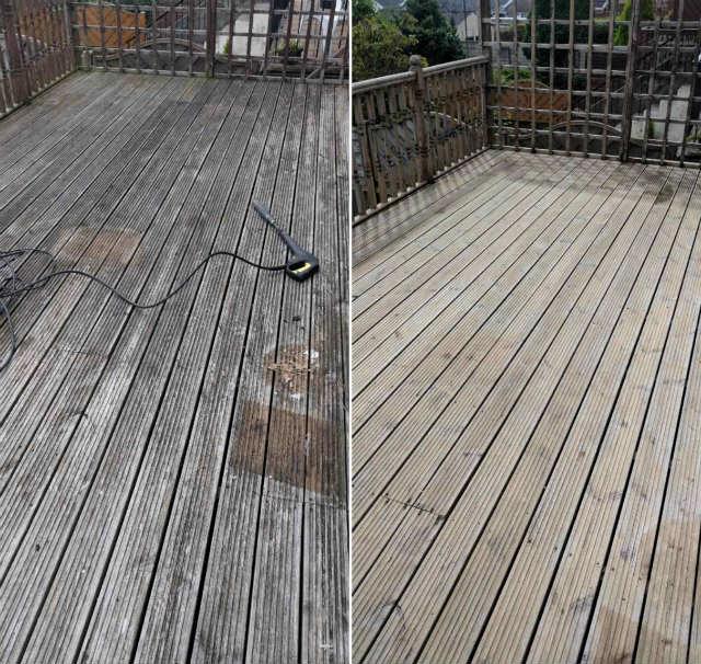 Pressure washing wood decks result 3