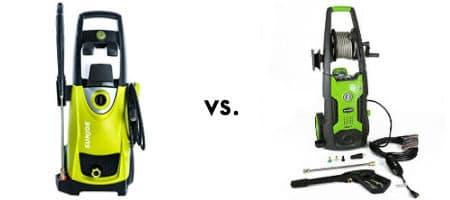 Sun joe vs greenworks electric pressure washer
