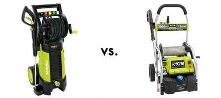 Sun joe vs ryobi electric pressure washer