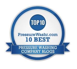 Best Pressure Washing Company Blogs Badge