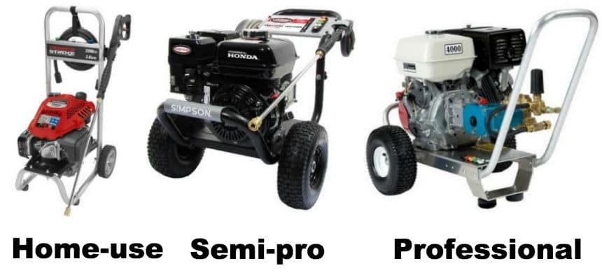 Choose Between Home and Pro Pressure Washers