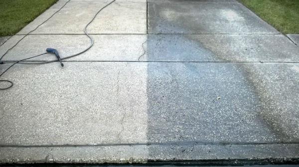 Pressure Washer Uses Driveway