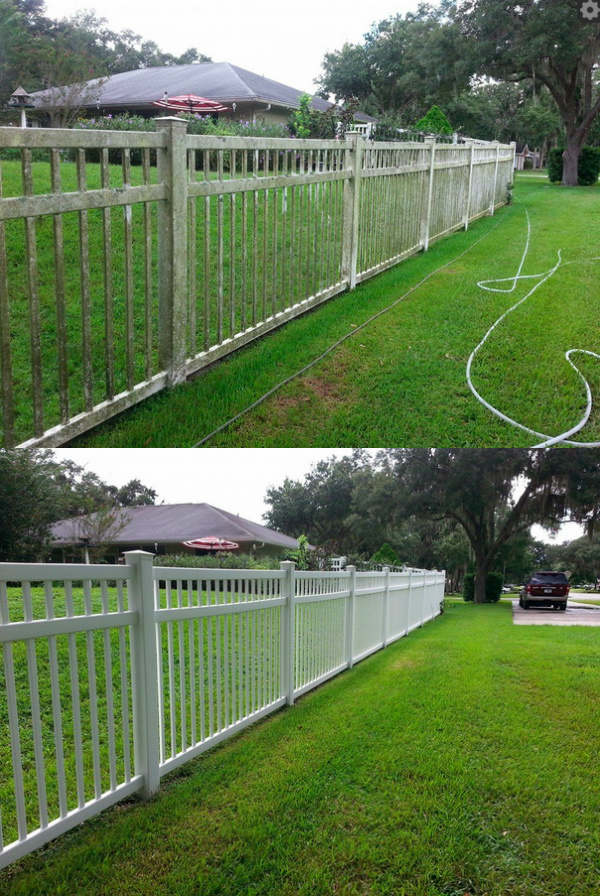 Pressure Washer Uses Fencing