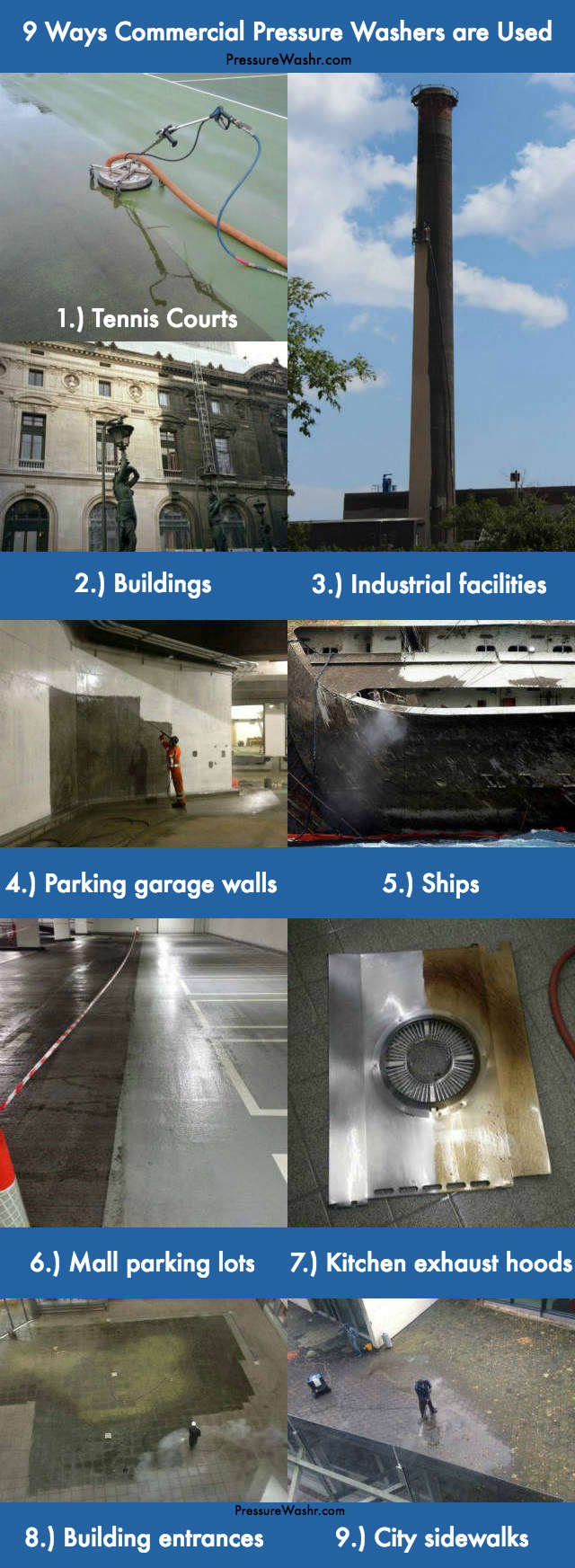 9 commercial pressure washer-industry uses pics