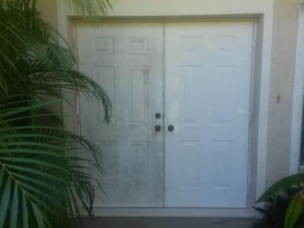 Pressure Cleaned House Door