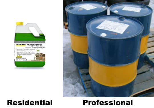 Professional and Residential Pressure Washer Detergent