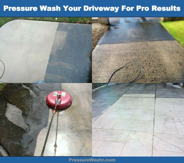 Spring Cleaning Driveways With a Pressure Washer Image
