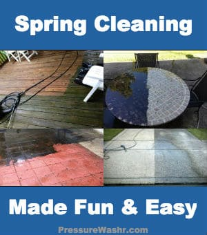 Spring Cleaning With Pressure Washer