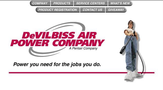 DeVilbiss Air Power Company Website
