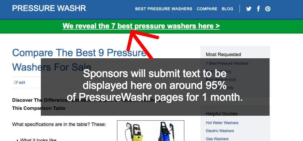 PressureWashr Sponsors