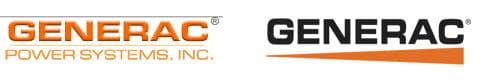 Generac Power Systems Logo Then and Now