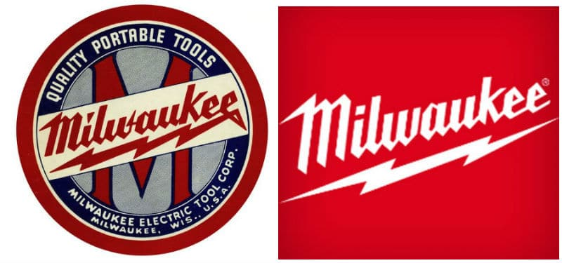 Milwaukee Tools Logo Then and Now