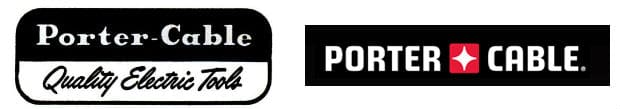 Porter Cable Logo Then and Now