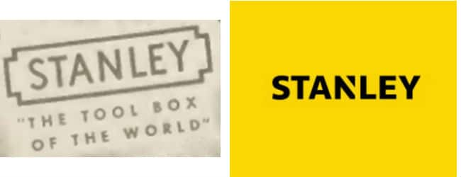 Stanley Tools Logo Then and Now