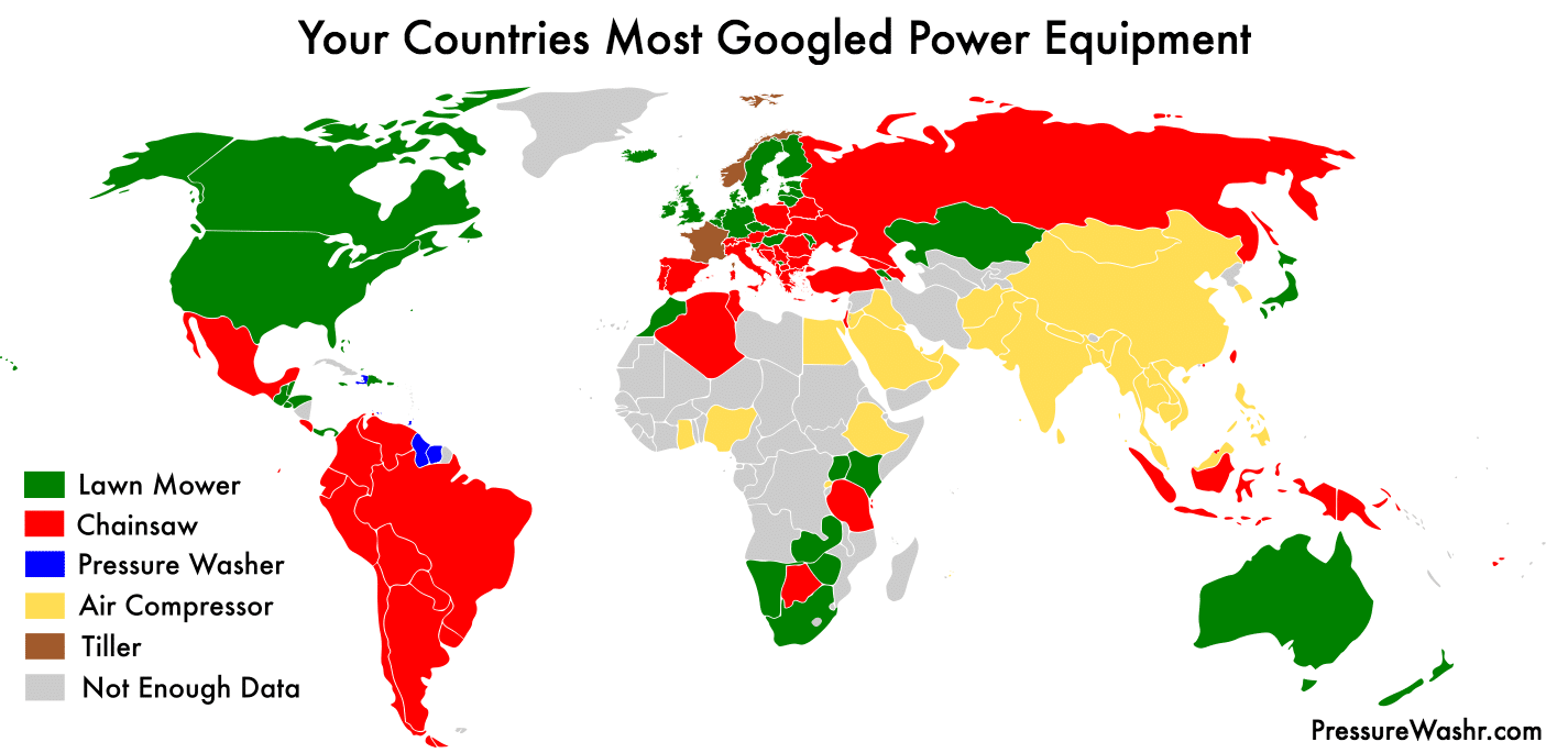 Your Countries Most Googled Power Equipment