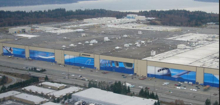 Boeing Factory Size