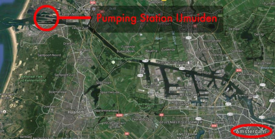 Pumping Station IJmuiden map