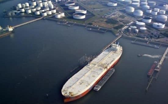 TI Class Supertanker in Dock