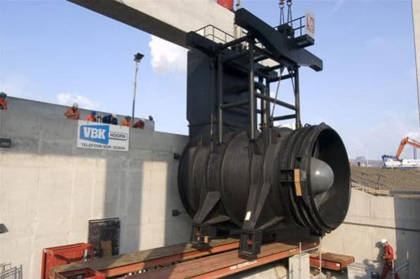 Worlds Biggest Pump Being Moved into Position