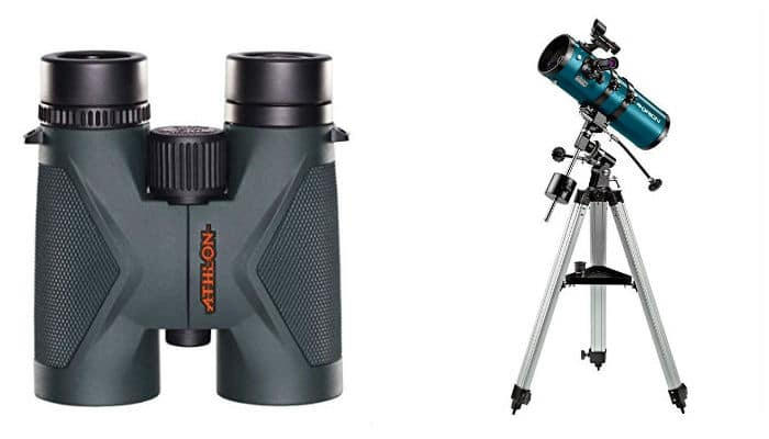 Athlon Binoculars and Orion Telescope