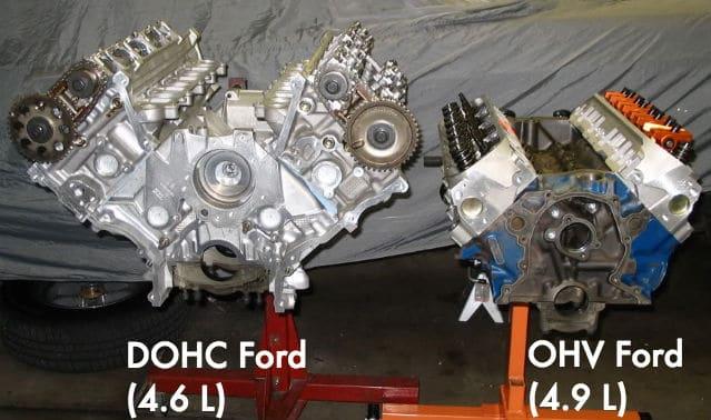 DOHC size versus ohc engines