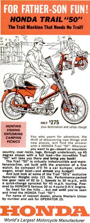 Honda 1962 Advert in Popular Mechanics Motorcycle