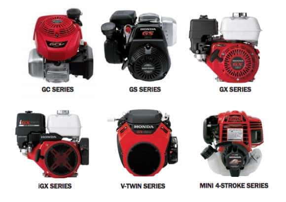 Honda small engines collage