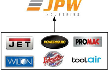JPW Industries parent company owns these brands
