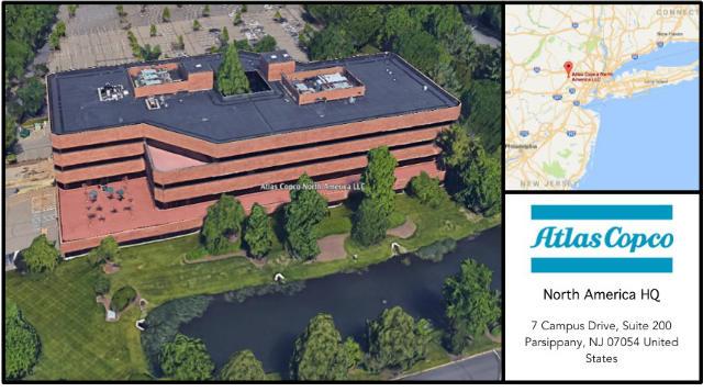 Atlas Copco North America Headquarters Card