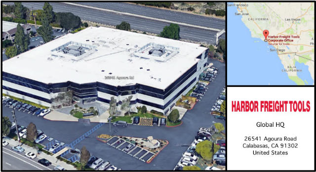 Harbour Freight Tools Headquarters Card