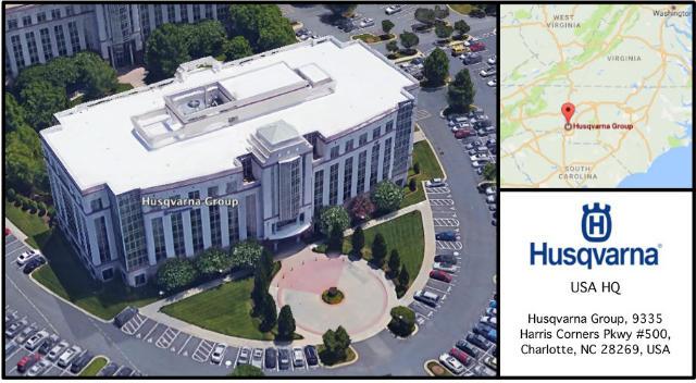 Husqvarna Group USA Headquarters Card