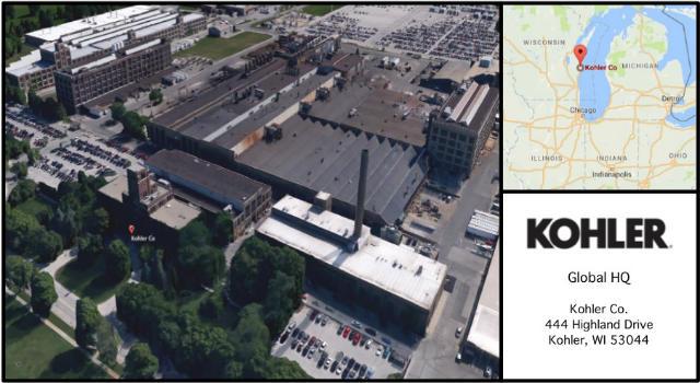 Kohler Headquarters Card