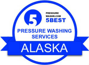 Alaska pressure washing services badge