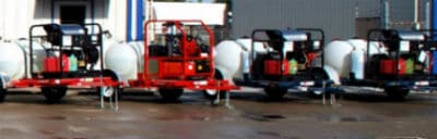 Alklean pressure washing trailer equipment rentals