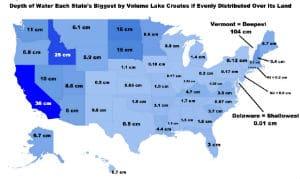 Empty lakes onto states land pressurewashr map chart