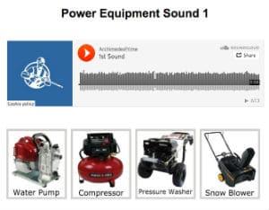 Pressurewashr power equipment sound quiz