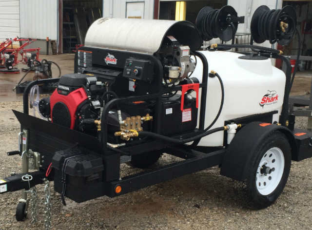 Shark power wash trailer package