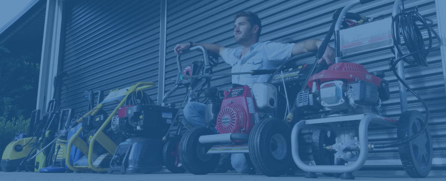 Testing the best pressure washers on concrete