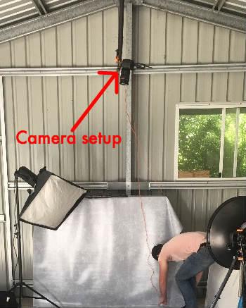 Camera Setup for Pressure Washer Photo Shoot
