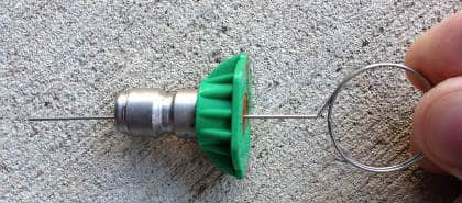 Clearing Pressure Washer Nozzle Blocks With Needle