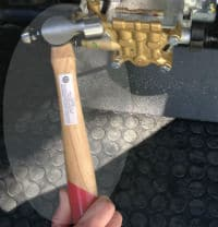 Hammer or Rubber Mallet is Used to Troubleshoot pressure washers