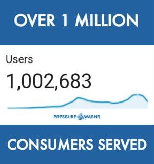 PRESSUREWASHR over 1 million consumers served
