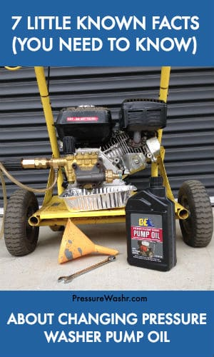 Changing Pressure Washer Pump Oil Facts