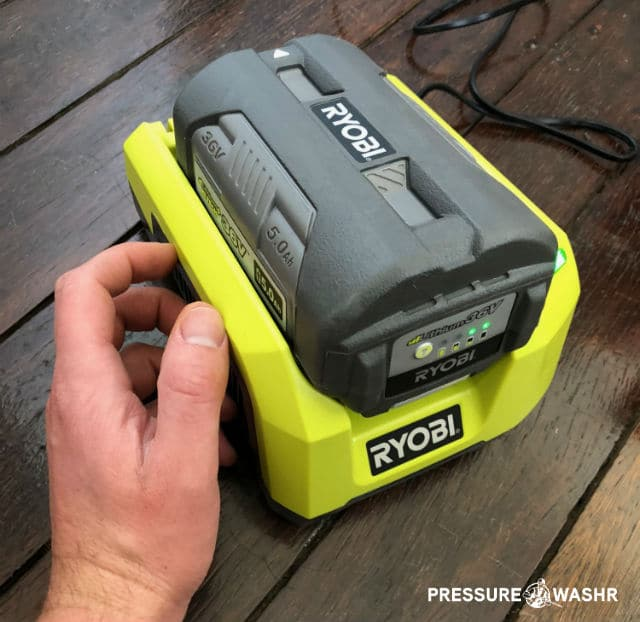 Ryobi 36 Volt 5 amp hour battery for cordless electric pressure washer