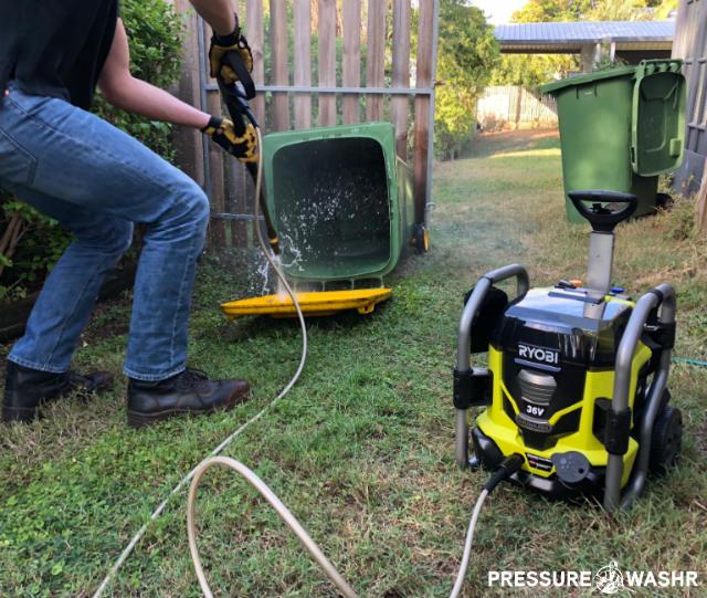 Testing Ryobi Cordless Battery Powered Pressure Washer